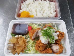 新居浜 梅屋 鶏唐揚げおろしポン酢弁当