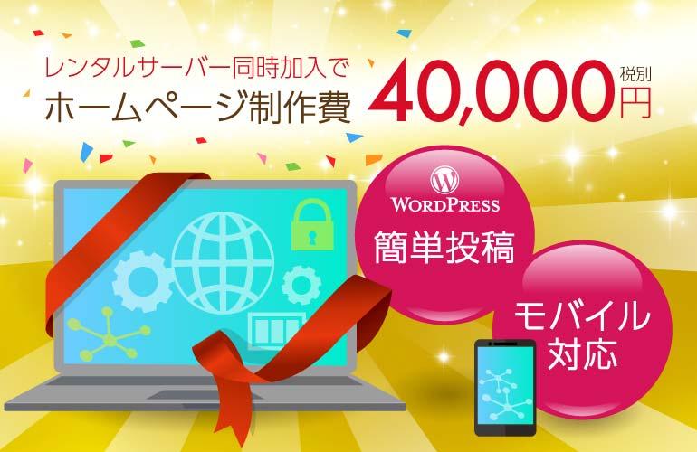 ホームページ制作費4万円